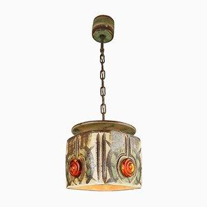 Lampada in ceramica di Jette Hellerøe per Axella, anni '60