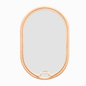 Lasso Oval Rattan Mirror by AC/AL Studio for ORCHID EDITION