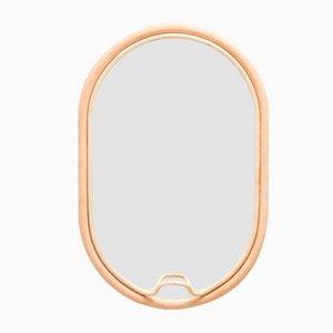 Ovaler Spiegel mit Rahmen aus Rattan in Lasso-Optik von AC/AL Studio für ORCHID EDITION