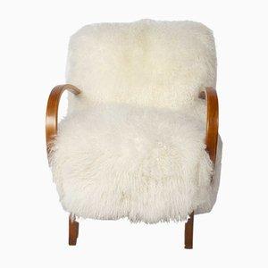 Mongolischer Vintage Sessel mit Wollbezug