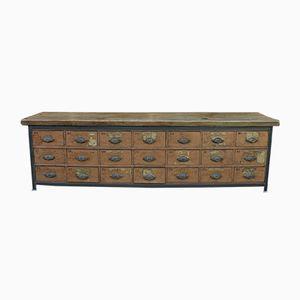 Metal & Wood Cabinet, 1920s
