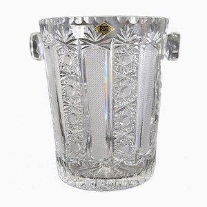 Cubitera para champán Mid-Century de cristal, años 60