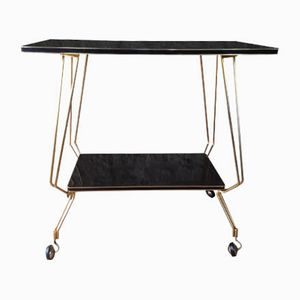 Vintage Formica and Brass Serving Cart, 1960s