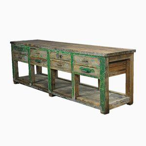 Industrial Wooden Worktable, 1940s