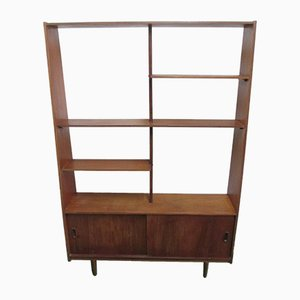 Vintage Teak Sideboard with Bookcase, 1950s