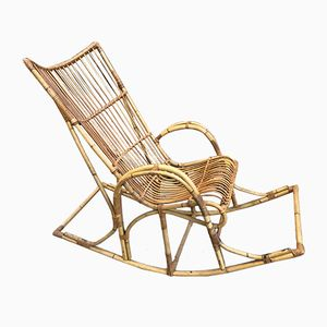 Rattan Rocking Chair, 1970s