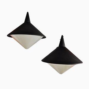 Lámparas de pared vintage de Lampex, años 70. Juego de 2