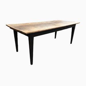Mesa de granja vintage de madera de cerezo