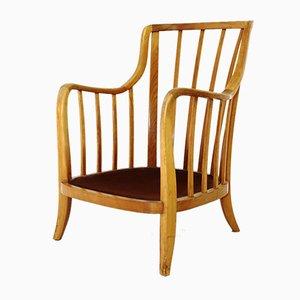 Wiener Sessel aus Kirschholz, 1930er