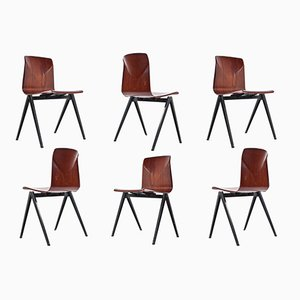 S22 Pyramid Dining Room Chairs from Galvanitas, 1967, Set of 6
