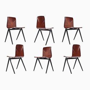 S22 Pyramid Esszimmerstühle von Galvanitas, 1967, 6er Set