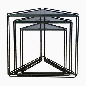 Tables Gigognes Triangulaires en Isocèle par Max Sauze, 1970s