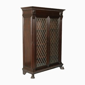 Renaissance Style Italian Carved Walnut Bookcase from Michele Bonciani, 1930s