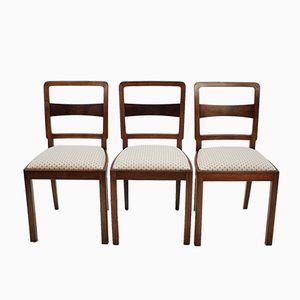 Tschechische Stühle, 1950er, 3er Set