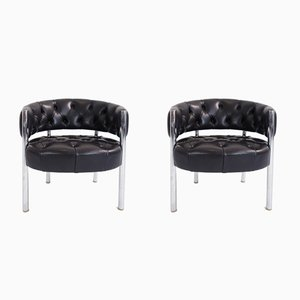 Mid-Century Lobby Armchairs by Robert Haussmann for Dietiker, Set of 2