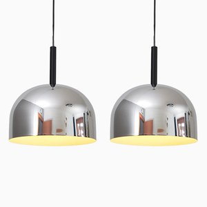 Chromed Pendants from Stilnovo, 1970s, Set of 2