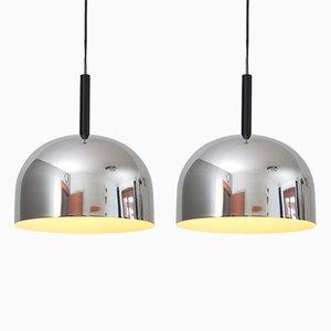 Lampada in metallo cromato di Stilnovo, anni '70, set di 2