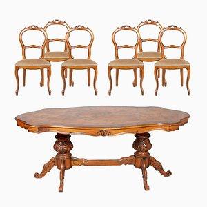 Vintage Italian Baroque Dining Set