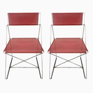 Danish Chairs by Niels Jørgen Haugesen for Hybodan, 1970s, Set of 2