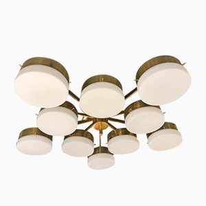 Italian Ceiling Lamp in the Style of Gio Ponti
