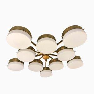 Lámpara de techo italiana en el estilo de Gio Ponti