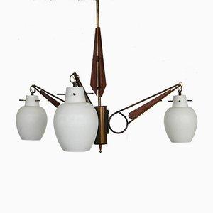 Italienische Vintage Deckenlampe, 1950er