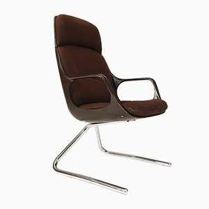 Modernist Highback Chair from Chromecraft, 1979