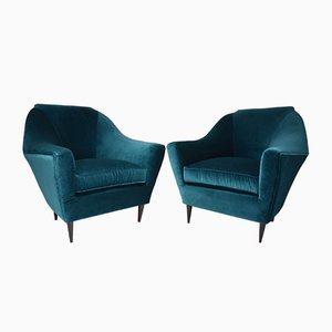 Italian Mid-Century Armchairs by Ico Parisi for Ariberto Colombo, Set of 2