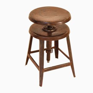 Vintage Industrial French Stool, 1930s