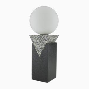 Monument Lampe aus Granit, massivem Stahl & Glas mit dreieckiger Säule von Louis Jobst, 2016