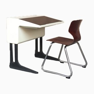 Desk and Chair by Luigi Colani & Elmar Flötotto for Pagholz Flötotto, 1970s