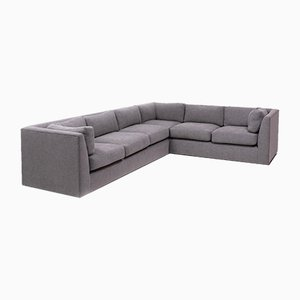 Mid-Century Grey Sectional Corner Sofa by Milo Baughman, 1960s