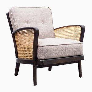 Vintage Raffia Lounge Chair, 1950s