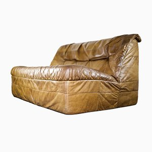 Cognac Leather Sofa from Rolf Benz, 1970s