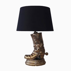 American Brass Cowboy Boot Lamp, 1970s