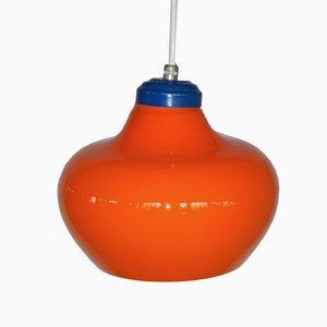 Lampada a sospensione arancione, anni '60