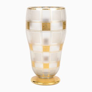Vaso vintage in vetro di Boom, anni '30