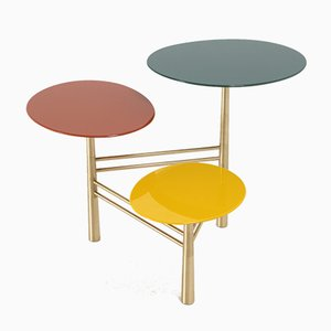 Colored Pebble Occasional Table by Nada Debs