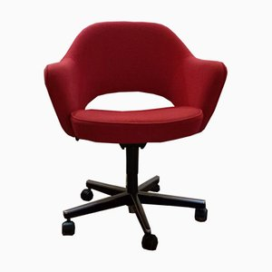 Paprika Red Executive Desk Chair by Eero Saarinen for Knoll International, 1980s
