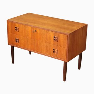 Low Mid-Century Danish Teak Chest of Drawers