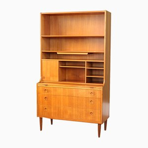 Tall Mid-Century Danish Secretaire
