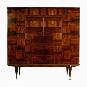 Mid-Century French Rio Rosewood Cabinet, 1950s
