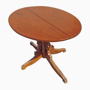 Ovaler Vintage Tisch aus Kirschholz