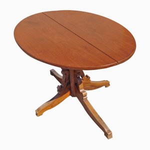 Tavolo ovale vintage in ciliegio