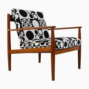 Dänischer Mid-Century Modell 118 Sessel mit Gestell aus Teak von Grete Jalk für France & Søn