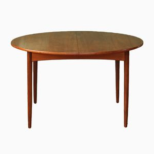 Mid-Century Round Danish Extendable Dining Table