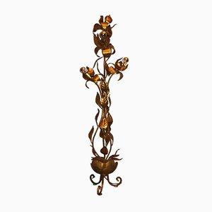 Vergoldete Vintage Stehlampe aus Blech
