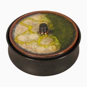 Caja con tapa vintage de cerámica de Glatzle para Karlsruher Majolika, años 60