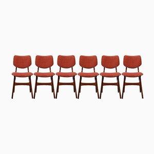 Niederländische Mid-Century Esszimmerstühle von Pynock, 1960er, 6er Set