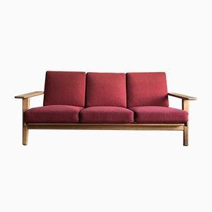 GE-290-3 3-Sitzer Sofa aus Eiche von Hans J. Wegner für Getama, 1960er